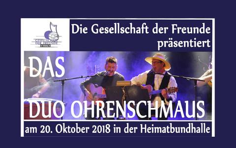 Das Duo Ohrenschmaus <br />20.10.2018