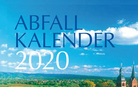 Abfallkalender<br />2020