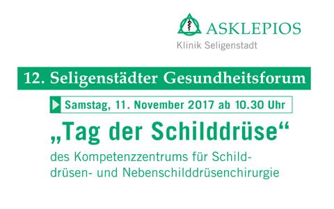 12. Seligenstädter<br />Gesundheitsforum<br />11. November 2017