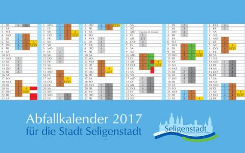 Abfallkalender<br />2017