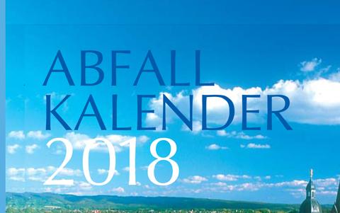 Abfallkalender<br />2018