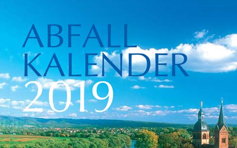 Abfallkalender<br />2019