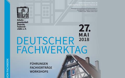 Deutscher Fachwerktag<br />am 27.05.2018