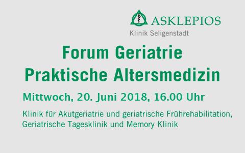 Forum Geriatrie<br />am 20.06.2018