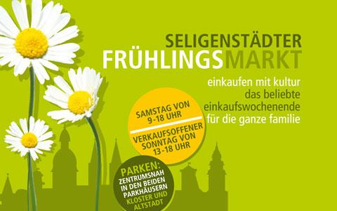 Seligenstädter<br />Frühlingsmarkt<br />am 01. und 02. April 2017