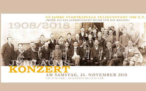 110 Jahre Stadtkapelle<br />Jubiläumskonzert<br />24.11.2018