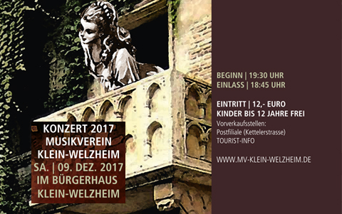 Konzert 2017 <br />Musikverein <br />Klein-Welzheim