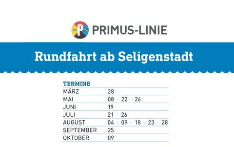 Schiffsausflüge <br />Rundfahrt ab Seligenstadt