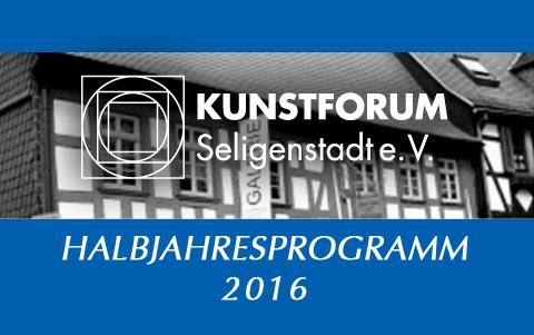 Halbjahresprogram <br />Kunstforum Seligenstadt