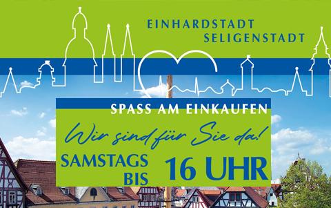 Samstags bis 16:00 Uhr<br />in Seligenstadt<br />einkaufen