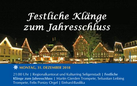 Festliche Klänge<br />zum Jahresschluss<br />31.12.2018
