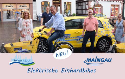 Neu:<br />Elektrische Einhardbikes