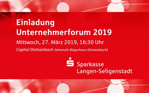 Unternehmerforum 2019<br />der Sparkasse<br />Langen-Seligenstadt