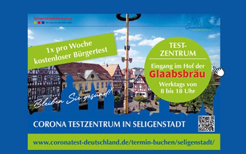Corona Testzentrum<br />in Seligenstadt eröffnet