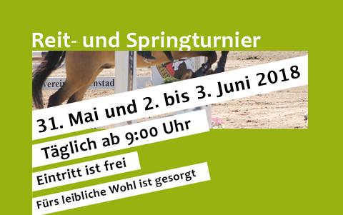 Reit- und Springturnier<br />am 31.05.und 02/03.06.2018