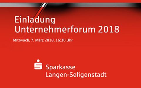 Unternehmerforum 2018<br />der Sparkasse<br />Langen-Seligenstadt