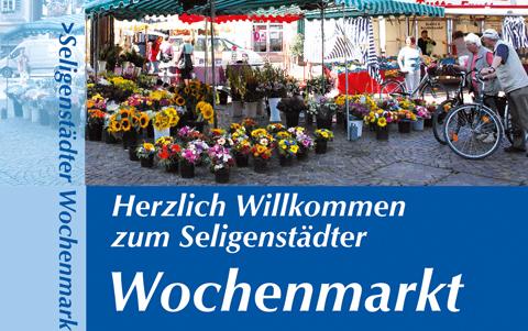 Seligenstädter Wochenmarkt<br />jeden Mittwoch und Samstag